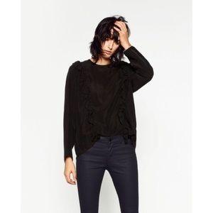 Zara Pants - Zara Dark Navy Coated Stretch Skinny Cropped Pant